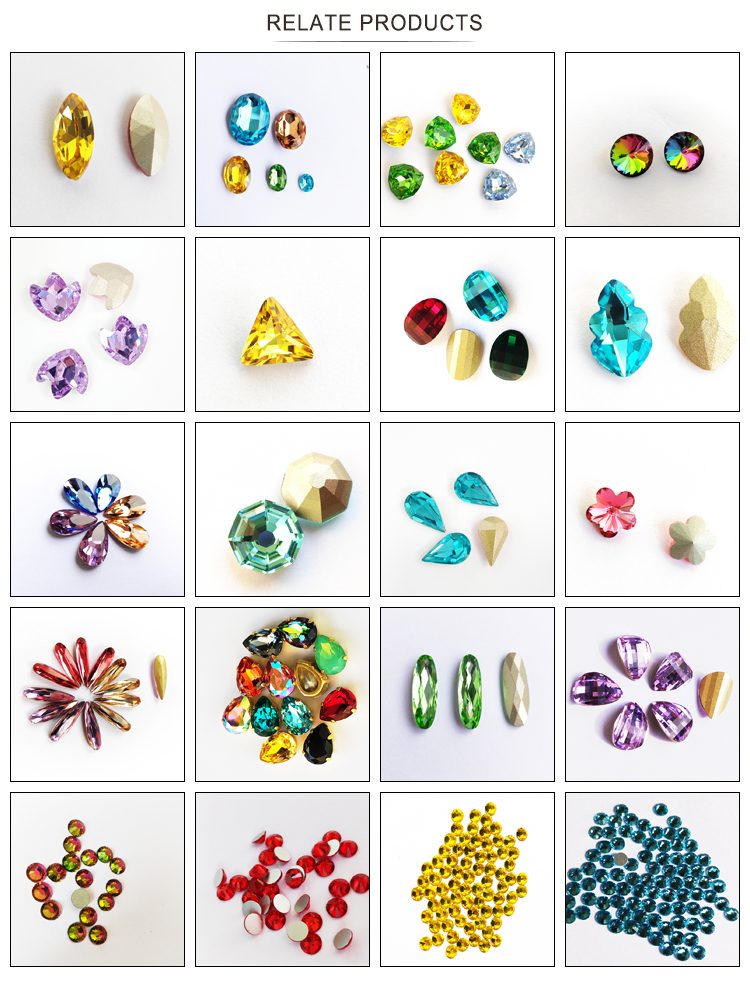 SI.VOUS Pear shape decoration use crystal rhinestone stone for jewelry making dresses design