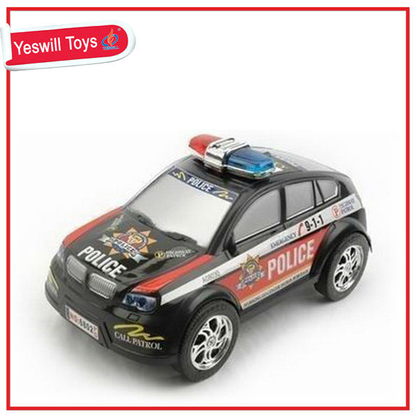 2016 Hot Sale Big Friction Car Toys Friction Police Car Inertia Toy