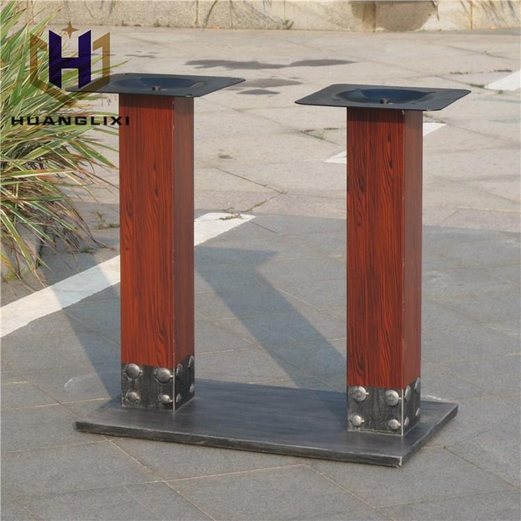 Unico metallo quadrato tavolo da pranzo gambe piedi per mobili tavolo in ferro battuto basi - Gambe per mobili ikea ...