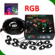 Auto lighting low voltage 4/6/8/12 lights kit RGB led rock light with music mode bluetooth control by cellphone smartphone APP