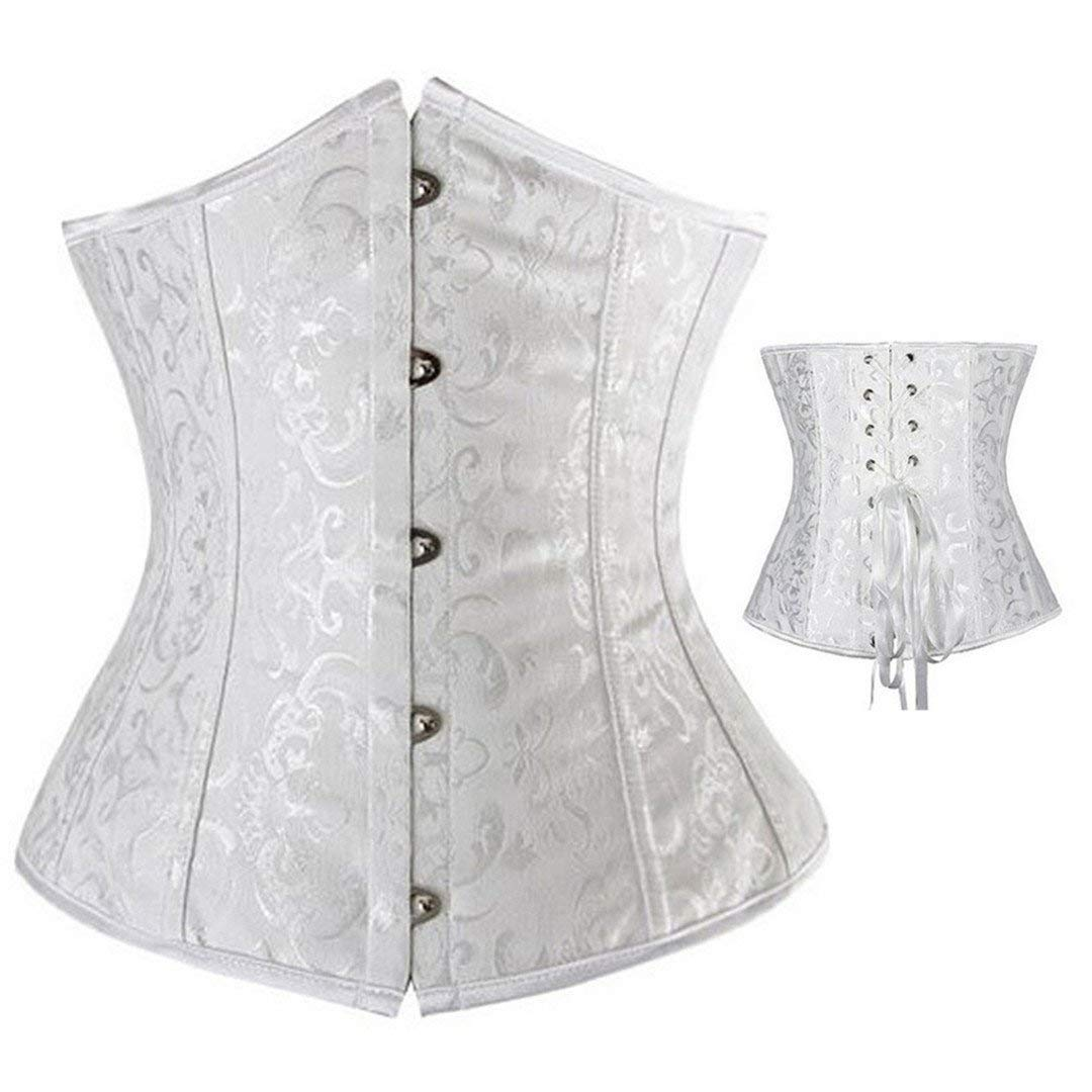 Corset Women Body Lace up Print Corsets Bustiers Wedding Lingerie