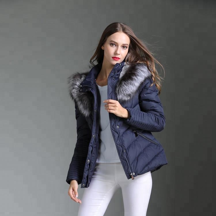 Womens goose bontkap down feather jassen voor mode kleding