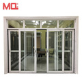 Guangzhou Factory four panels Aluminium Sliding Doors And Windows With Mesh