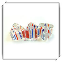 Wholesale Glass Cane furnace loose beads triangle colorful lines crystsal beads