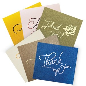 Concise Custom Foil Printing Thank You Cards Holiday Greeting Card