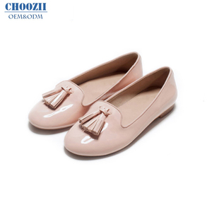 High Quality Customized Wholesale Autumn New Design Slip On Beautiful Patent Leather Ladies Casual Flat Dress Women Shoes