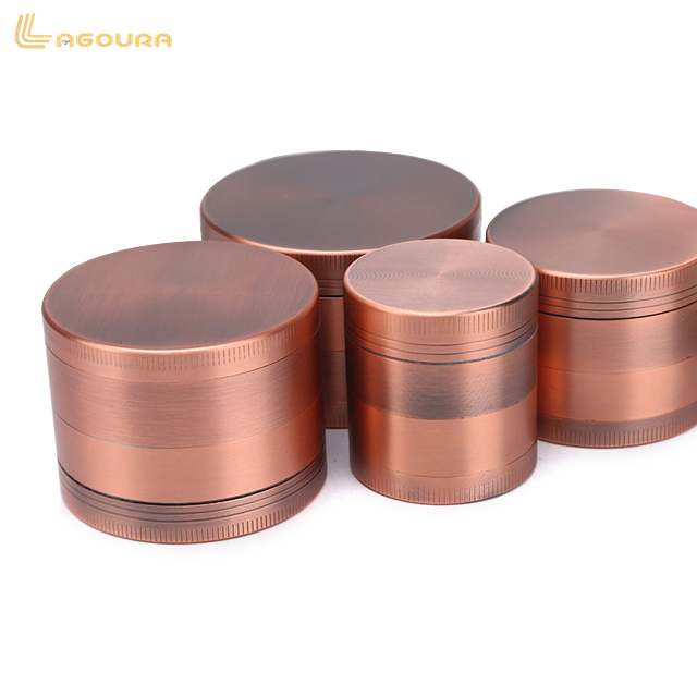 Available 4 layer zinc alloy tobacco grinder accept custom logo