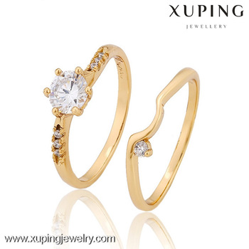 12825 Custom Design 18k Gold Color Couple RingDiamond Wedding Ring