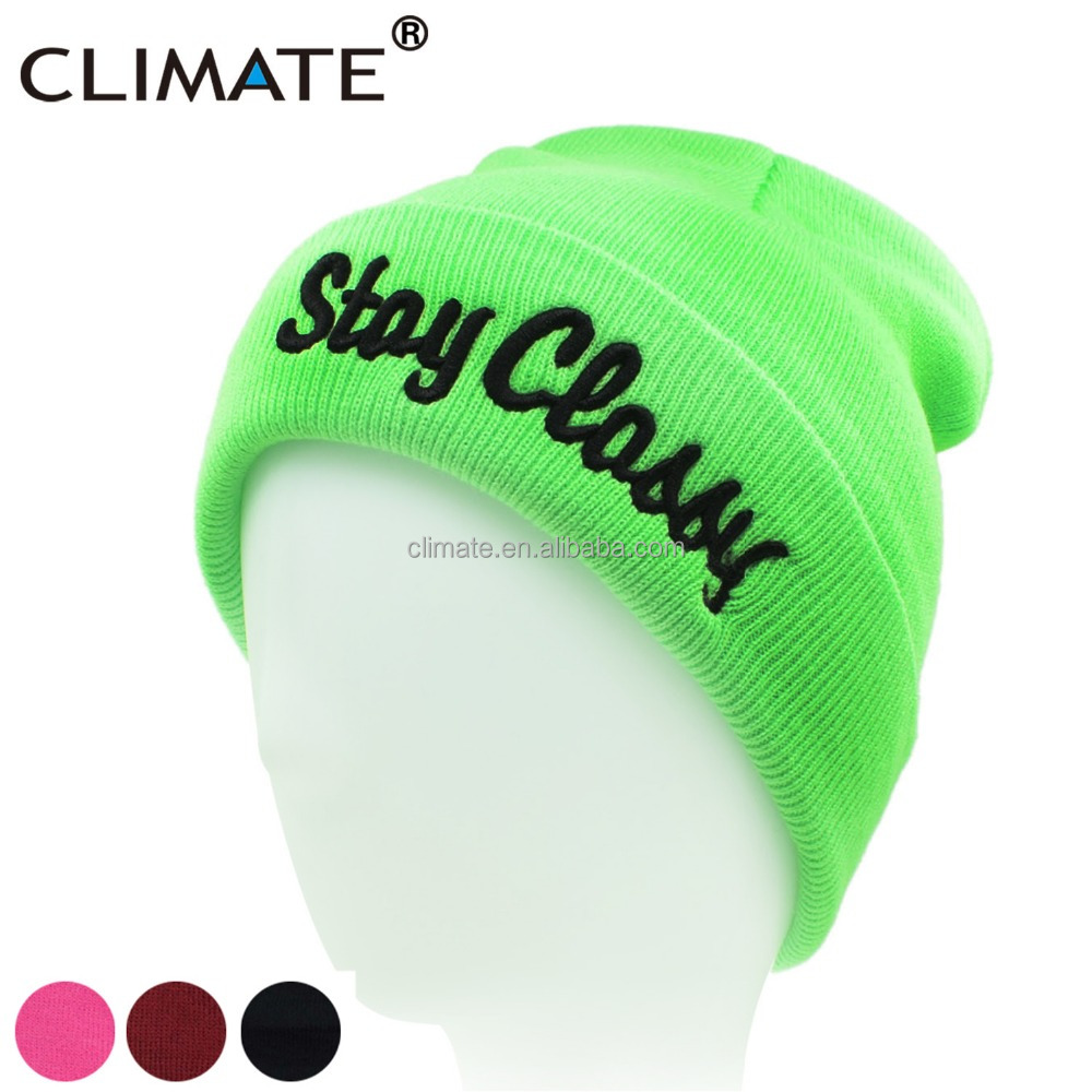 b6500f7299f Climate Women Girl Winter Warm Beanie Hat Skullies Stay Classy St.  Patrick s Day Green Knit Hat Beanie Caps For Women Girls Lady - Buy Women  Girl Winter ...
