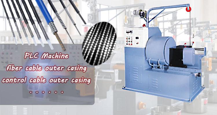 PLC control cable outer casing hose conduit rolling machine