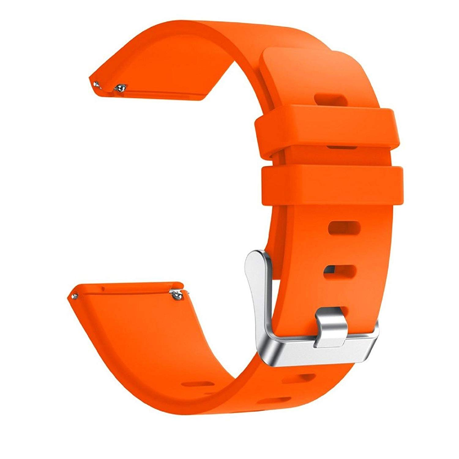 """Owill Silicone Replacement Sports Band Strap For Fitbit Versa Smart Watch, Fits 5.12""""-7.68"""" Wrist (Orange)"""