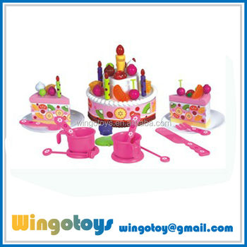 Hot Selling Play Toy Birthday Cake For Kid With Music And Recording