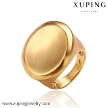 12987 China Jewelry Manufacture Fashion 18k Gold Color Alloy Ring for Men