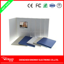 video recordable greeting card OEM 3.5 inch video book for Wedding/business use