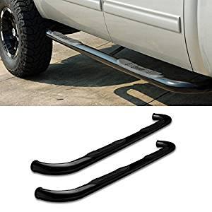 "AutoCat 3"" Black Running Boards Fit 09-14 Dodge Ram Crew Cab Side Step Rails Nerf Bar Pair"