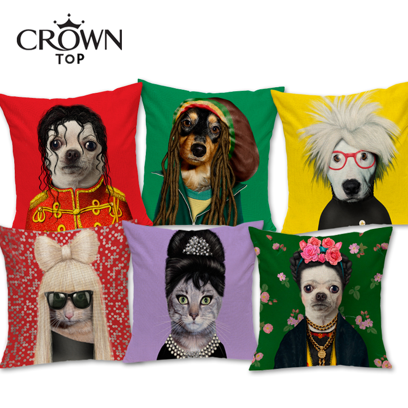 European Style Hipster Dog and Cat super Decorative Sofa throw Cushion Car Pillow home decor for Retail