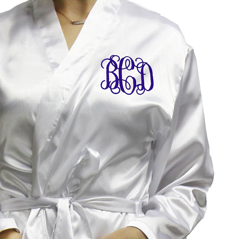 Monogrammed Satin Bridesmaid Kimono Robe Gift - Wedding Bridal Party Robes  - Women s Bathrobe - Custom dc0ed872c