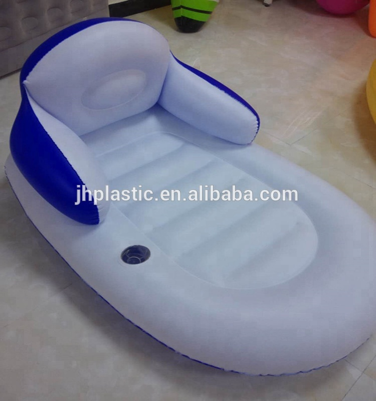 PVC factory price portable inflatable water lounger air sofa/chair/ for home furniture/swimming pool/beach side