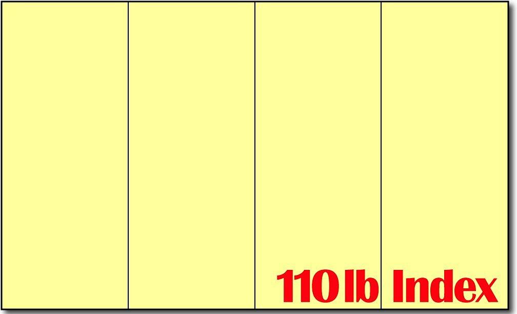 """8 1/2"""" x 14"""" 4 Panel Yellow Brochures - 250 Brochures"""