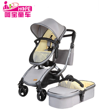 2017 hope brand oem acceptable high view baby carriage 3 in 1 stroller with EN1888