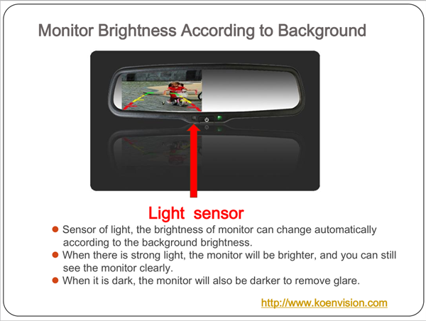 New Product Anti- glare 1000cd/m2 Brightness Monitor 4.3 Inch Car Rear View Mirror Reverse Camera