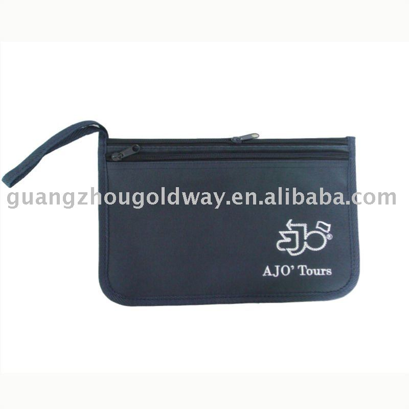 Promotional polyester file pouch document holder bag with handle
