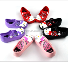 KS30166C 2017 kids cute cartoon beach shoes girls cat pvc summer shoes children jelly sandals