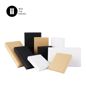 Different color printed simple design kraft paper custom package paper box