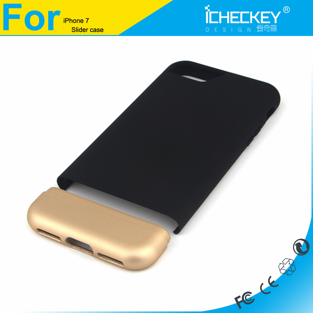 Icheckey Detachable Seamless Hard Slider Two Part Case PC Case for Iphone 7