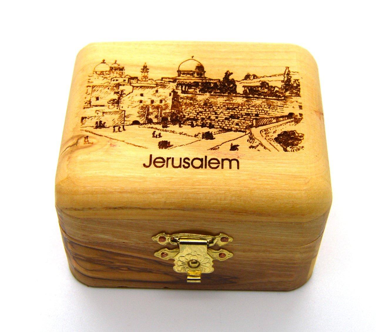 Olive Wood Box Genuine Holy Land Olive wood Jerusalem The Old City