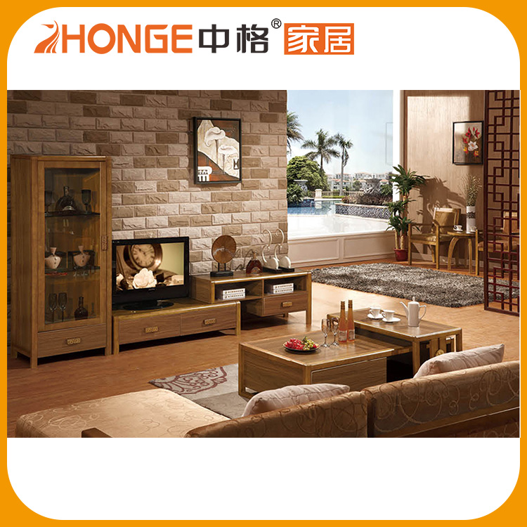 Three Drawer Classic Style Hallway Design Wooden Tv Table