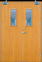 Wooden fire door with BS 476-22:1987 and CE certificate