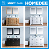 Homedee waterproof wood bathroom vanity cabinet, classical solid wood bathroom furniture