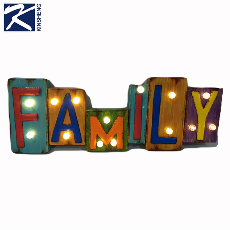 Promotional Unique Metal Family LED Lighting Home Accessories Decoration Products
