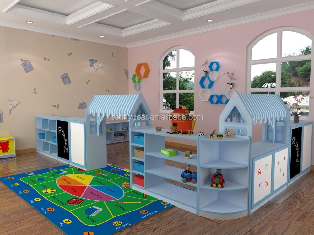 Nueva Kindergarten Muebles Marioneta De Madera Juego De Sala Muebles ...