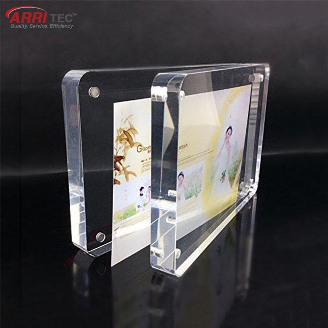 10mm Round Edge Acrylic Wholesale Display Magnetic Plastic