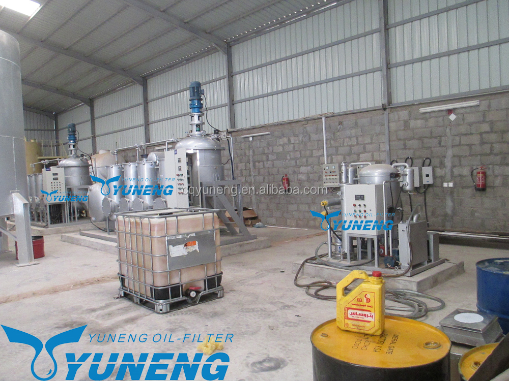 Fully Automatic Control Waste used oil cleaning systems for tire pyrolysis