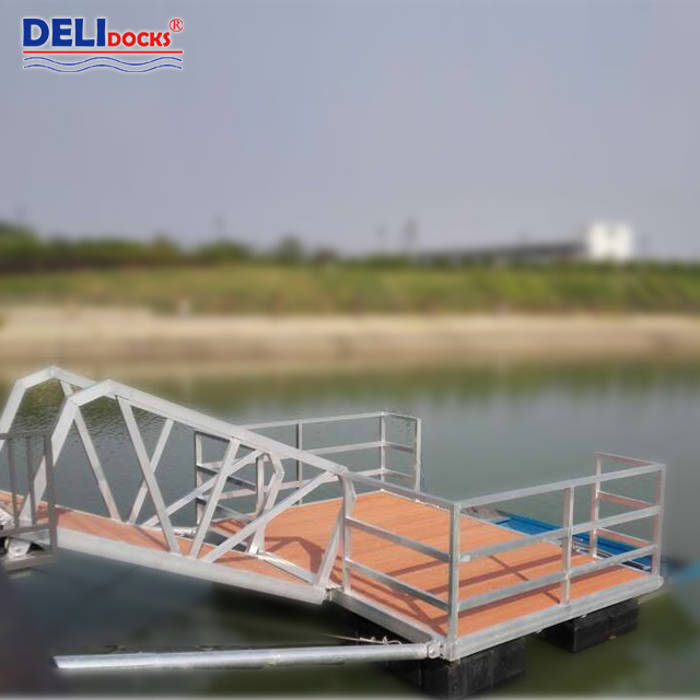 Pontoon floating aluminum yacht pier