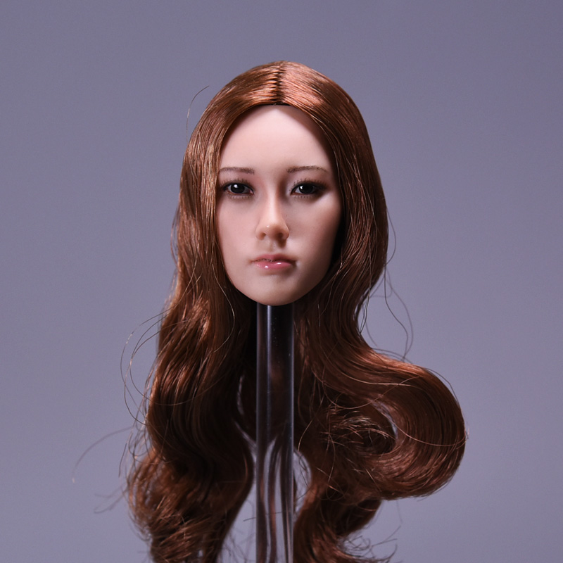 1/6 Asian Female Head Sculpt Ping 3 Style of Hair For JIAOU DOLL and PHICEN 1/6 Seamless Body Acton Figure