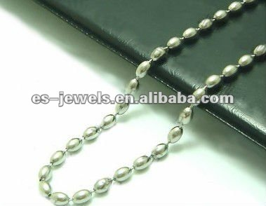 Vintage Style Stainless Steel Beads Chain Necklace