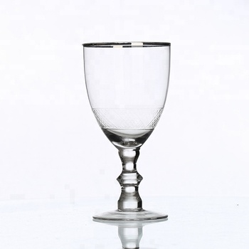 Vintage Thick Stem Cup Custom Personalized Large White Wine Glasses
