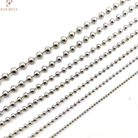 High quality polish silver stainless steel ball chain beaded chain