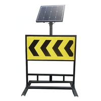 QSTTRAFFIC LED Solar Powered Traffic Warning Sign