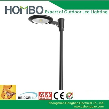 15w Round Led Garden Light 2.5m To 4m Pole For Outdoor Light ...