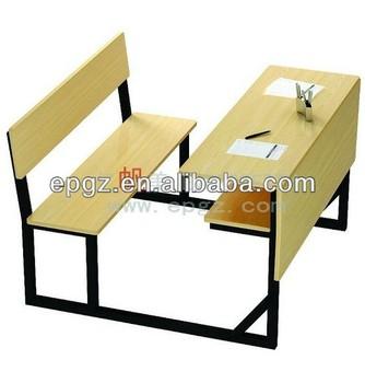 Standard Size Double Student Desk ChairDouble Seats School Classroom DeskDouble