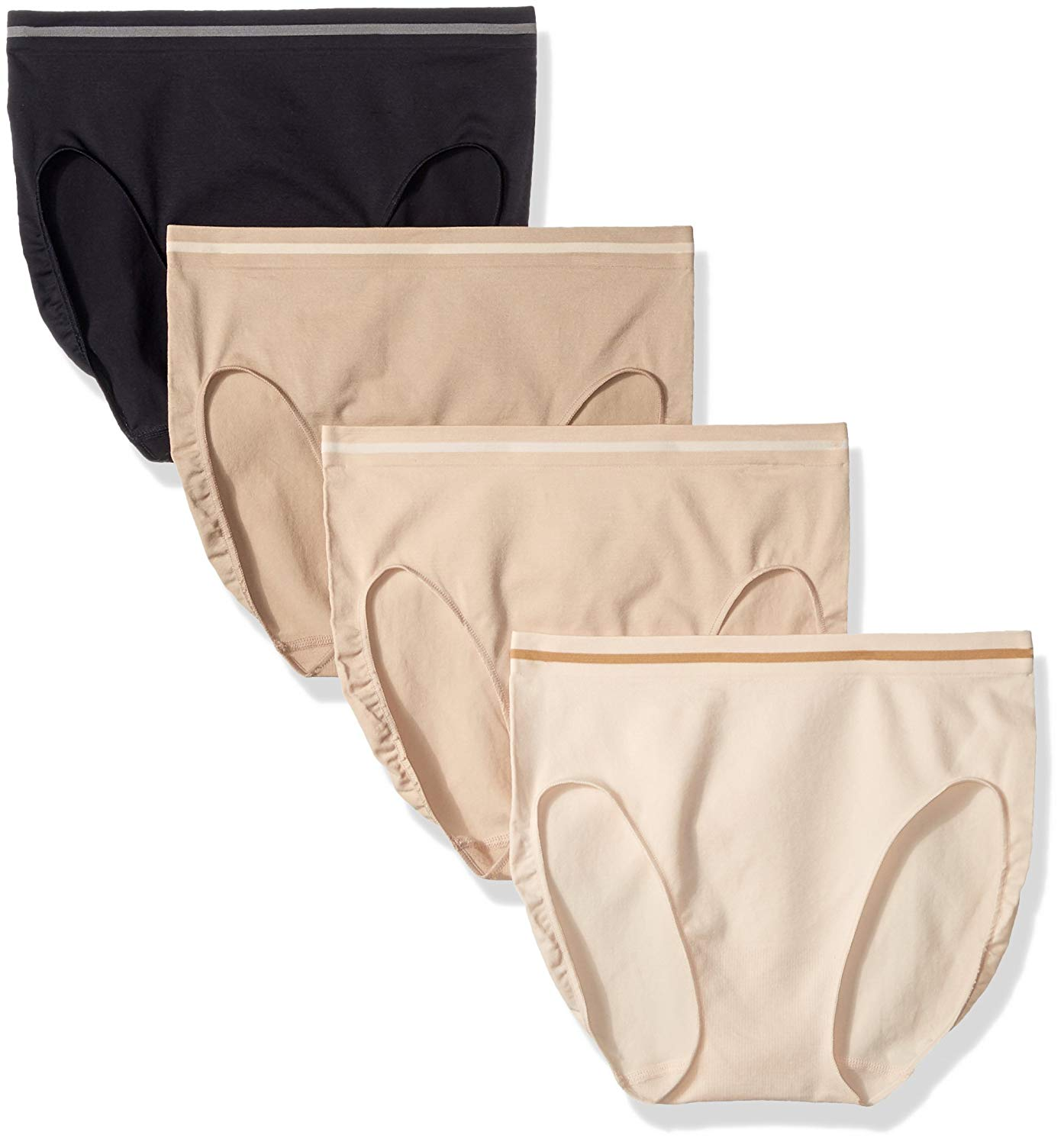 8cd880fe635f Get Quotations · Ellen Tracy Women's Seamless Flawless Fit Hi Cut Panty  (Pack Of ...