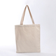 Eco friendly recyclable natural plain white cotton canvas tote bag