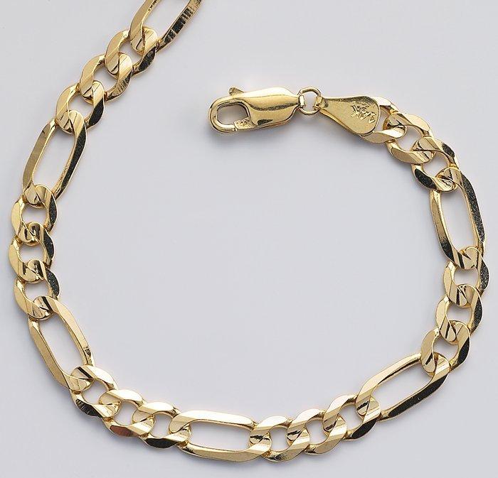 Cadenas De Oro Italiano 14k: 14 K Oro Cadena Figaro-Componentes De Joyería