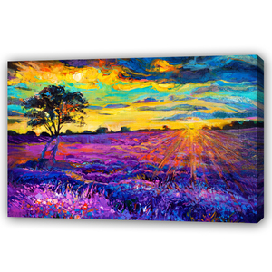 Dafen Handmade Sunset Night Landscape Color Palette Knife Painting Flower Home Decoration Wall Customizable Art Canvas Oil Pain