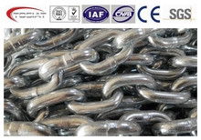Trade Assurance Welded hot dip galvanized twisted silver link chain